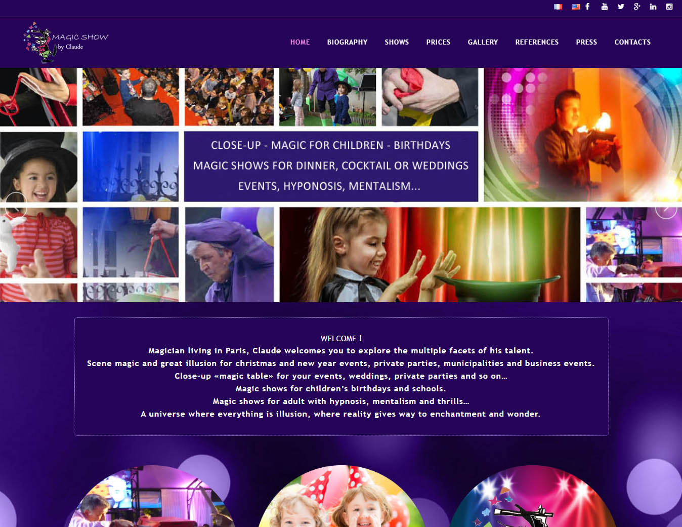 Magic passion website in Paris, web design and web devolopment in CMS by Marilooweb
