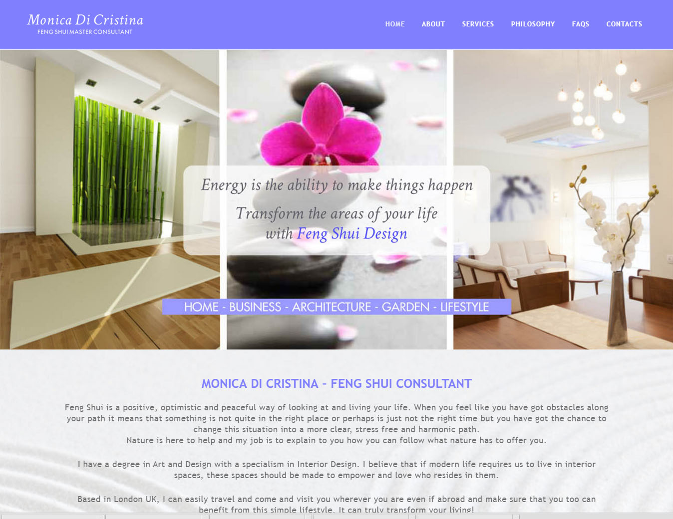 Monicadicristina website, design and devolopment in CMS by Marilooweb