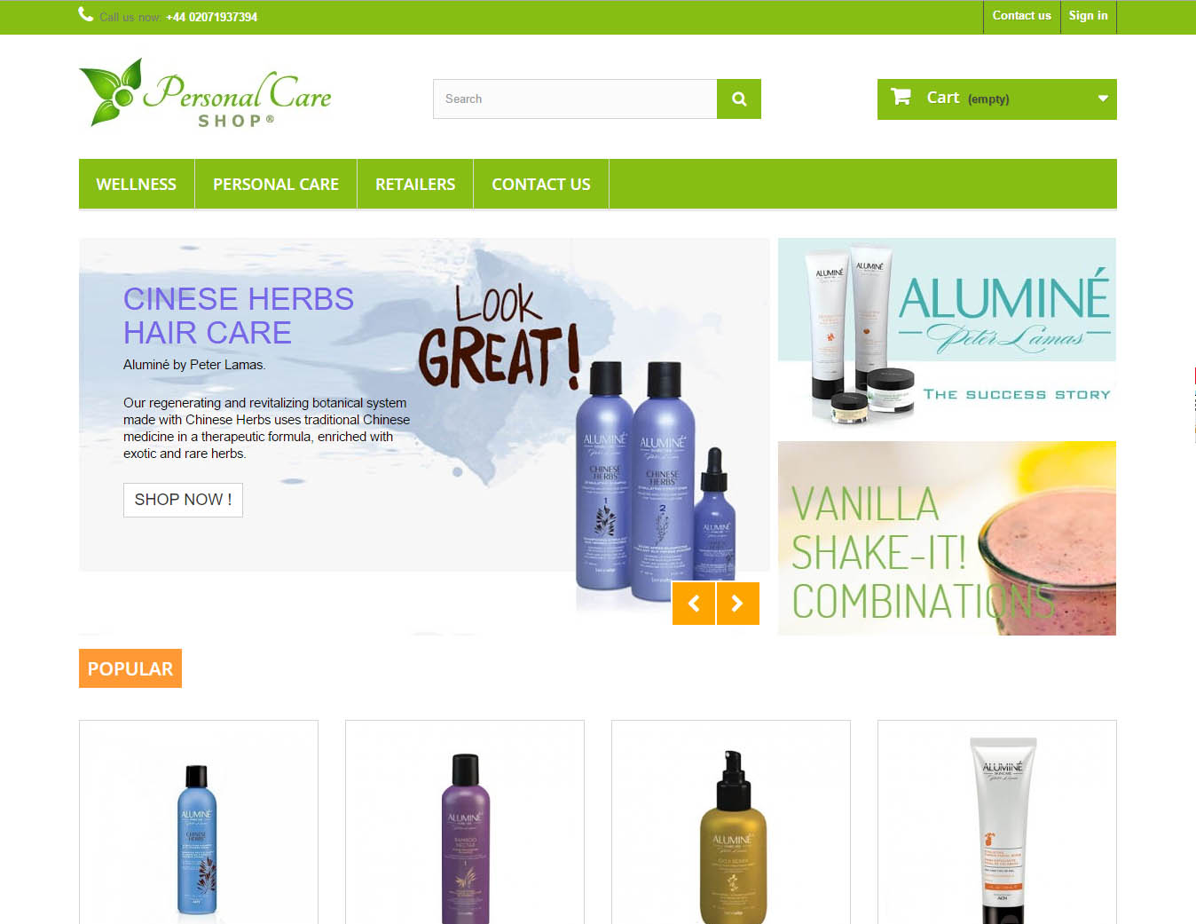 Personalcare shop, design and E-commerce devolopment by Maria Montemurro Webmaster