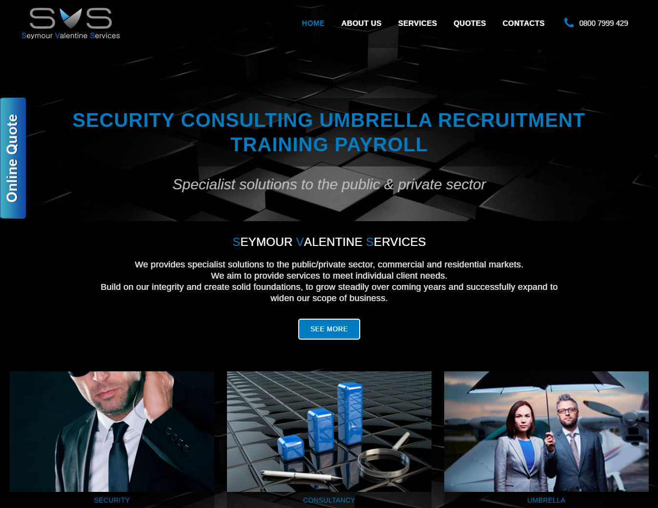 SVS Website in London, design and web devolopment in CMS by Maria Montemurro Webmaster